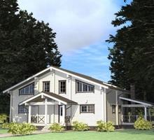 изображение проекта дома Проект дома из клееного бруса Солнце-2