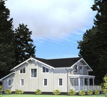 изображение проекта дома Проект дома из клееного бруса Талдом