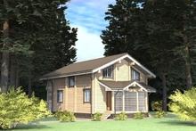 изображение проекта дома Проект дома из клееного бруса Юрьево