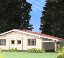 изображение проекта дома Проект дома из клееного бруса Белозерье