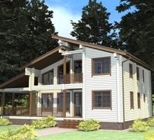 изображение проекта дома Проект дома из клееного бруса РЗ-16