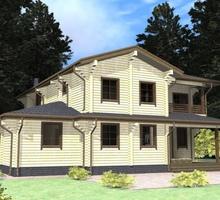 изображение проекта дома Проект дома из клееного бруса Заречье