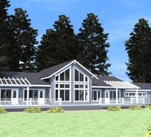 изображение проекта дома Проект дома из клееног бруса Ильмень