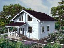 изображение проекта дома Проект дома из клееного бруса Вятка