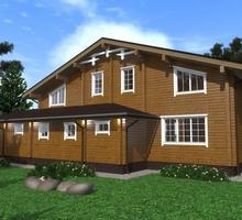 изображение проекта дома Проект дома из клееного бруса Яшино