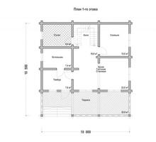 изображение проекта дома Проект дома из клееного бруса Ольгино