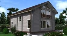 изображение проекта дома Проект дома из клееного бруса Днепр