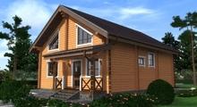 изображение проекта дома Проект дома из клееного бруса Тура