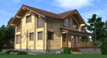 изображение проекта дома Проект дома из клееного бруса Двина