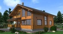 изображение проекта дома Проект дома из клееного бруса Волга