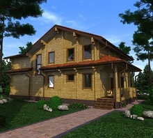 изображение проекта дома Проект дома из клееного бруса Азов