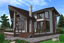 изображение проекта дома Проект дома из клееного бруса Хайтек-3