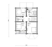изображение проекта дома Проект дома из клееного бруса Двина 2