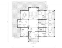 изображение проекта дома Проект дома из клееного бруса Урал
