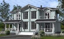 изображение проекта дома Проект дома из клееного бруса Надежда