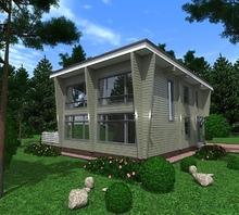 изображение проекта дома Проект дома из клееного бруса Першино