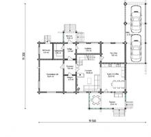 изображение проекта дома Проект дома из клееного бруса Романово