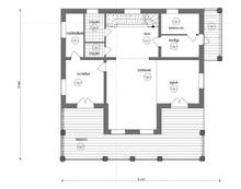изображение проекта дома Проект дома из клееного бруса Шале-3