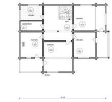 изображение проекта дома Проект дома из клееного бруса Шале-4
