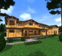 изображение проекта дома Проект дома из клееного бруса Сурское