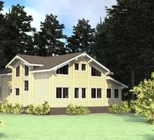 изображение проекта дома Проект дома из клееного бруса Емельяново
