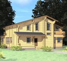 изображение проекта дома Проект дома из клееного бруса Авача