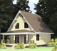 изображение проекта дома Проект дома из клееного бруса Ивушка