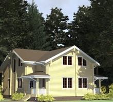 изображение проекта дома Проект дома из клееного бруса Королевский Лес 105