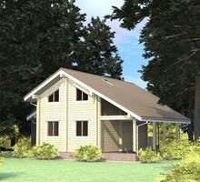 изображение проекта дома Проект дома из клееного бруса Лозым