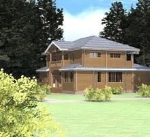 изображение проекта дома Проект дома из клееного бруса Королевский Лес