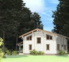изображение проекта дома Проект дома из клееного бруса Коряжино