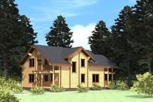 изображение проекта дома Проект дома из клееного бруса Бережки 12