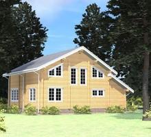 изображение проекта дома Проект дома из клееного бруса Лама