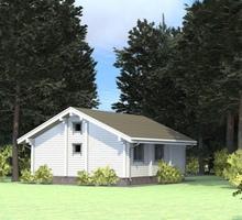 изображение проекта дома Проект дома из клееного бруса Левашово озеро (гостевой)
