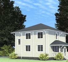 изображение проекта дома Проект дома из клееного бруса Левашово Озеро