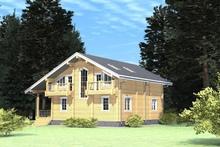 изображение проекта дома Проект дома из клееного бруса Лесное озеро