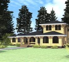 изображение проекта дома Проект дома из клееного бруса Локтево