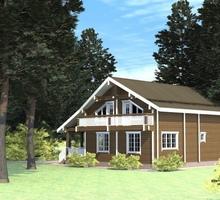 изображение проекта дома Проект дома из клееного бруса Львовский