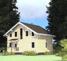 изображение проекта дома Проект дома из клееного бруса Мартюшино