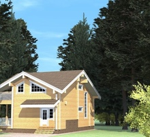 изображение проекта дома Проект дома из клееного бруса Минка
