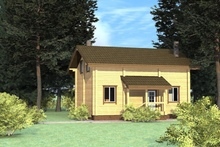 изображение проекта дома Проект дома из клееного бруса Мичуринец