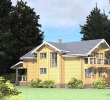изображение проекта дома Проект дома из клееного бруса Отрадное