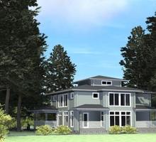 изображение проекта дома Проект дома из клееного бруса РЗ-Хайтек