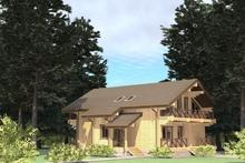 изображение проекта дома Проект дома из клееного бруса Горбуново