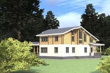 изображение проекта дома Проект дома из клееного бруса Шилово