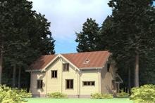 изображение проекта дома Проект дома из клееного бруса Валентиновка 1