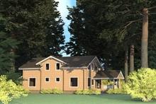 изображение проекта дома Проект дома из клееного бруса Королевский Лес 139