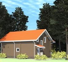 изображение проекта дома Проект дома из клееного бруса Матренино