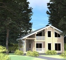 изображение проекта дома Проект дома из клееного бруса РЗ-150