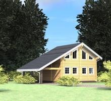 изображение проекта дома Проект дома из клееного бруса Лесной